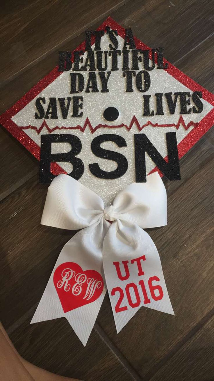 My Grey's Anatomy inspired graduation cap! Also nursing related for my BSN degree. Derek Shepherd would be proud.