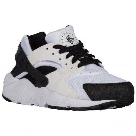 Nike Huarache Run - Boys' Grade School - Running - Shoes -  White/Black/White-sku:54275103