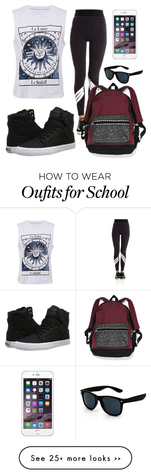 """school"" by eemaj on Polyvore featuring Y-3, Supra and Victoria's Secret"