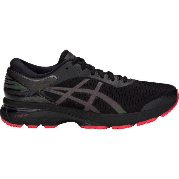 Asics Gel Kayano 25 Lite-Show - Mens Running Shoes - Black ...