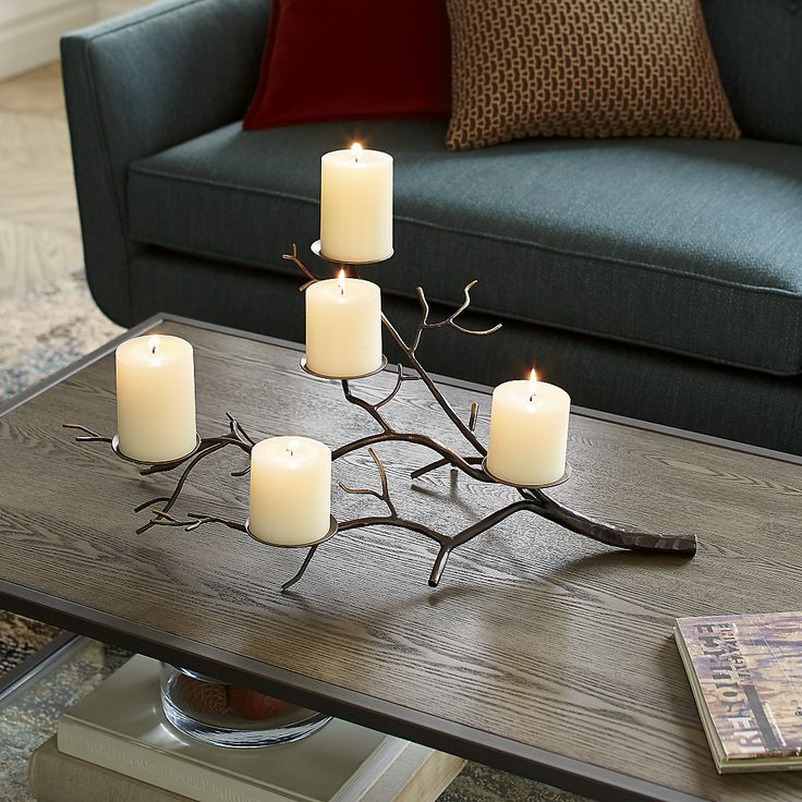 BranchCandleHolderPillar, crate and barrel