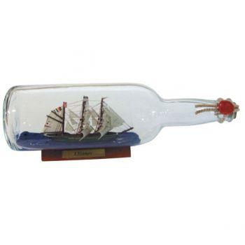 Maritimes Buddelschiff-Flaschenschiff Rickmer Rickmers für den Sammler und als schöne Geschenkidee     KEINE VERSANDKOSTEN INNERHALB DEUTSCH...