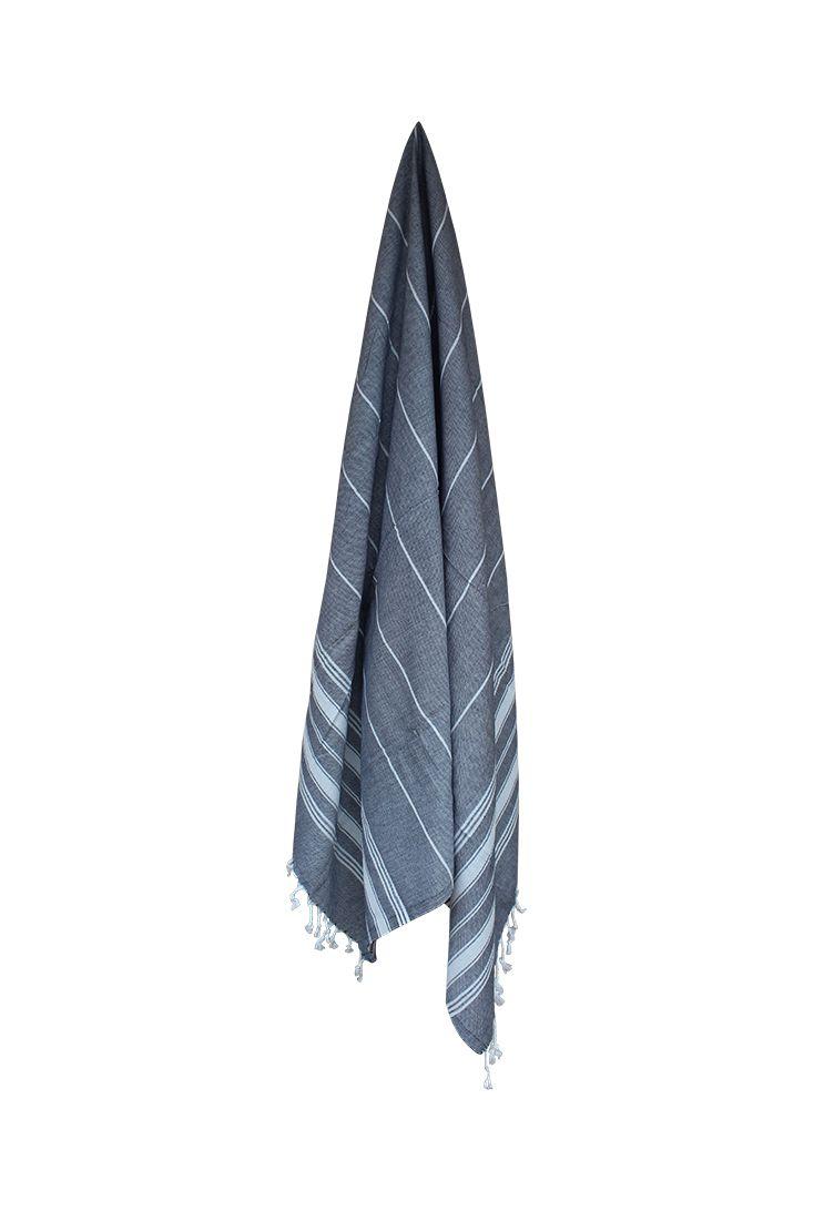 Mørkegråt hammam håndklæder - 2-4 stk