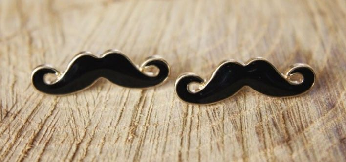 Pair of Movember Moustache Earrings for just $12!