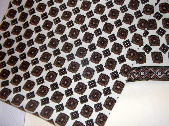 Men  vintage shawl double faced  geometric shaped by CHEZELVIRE, $12.00