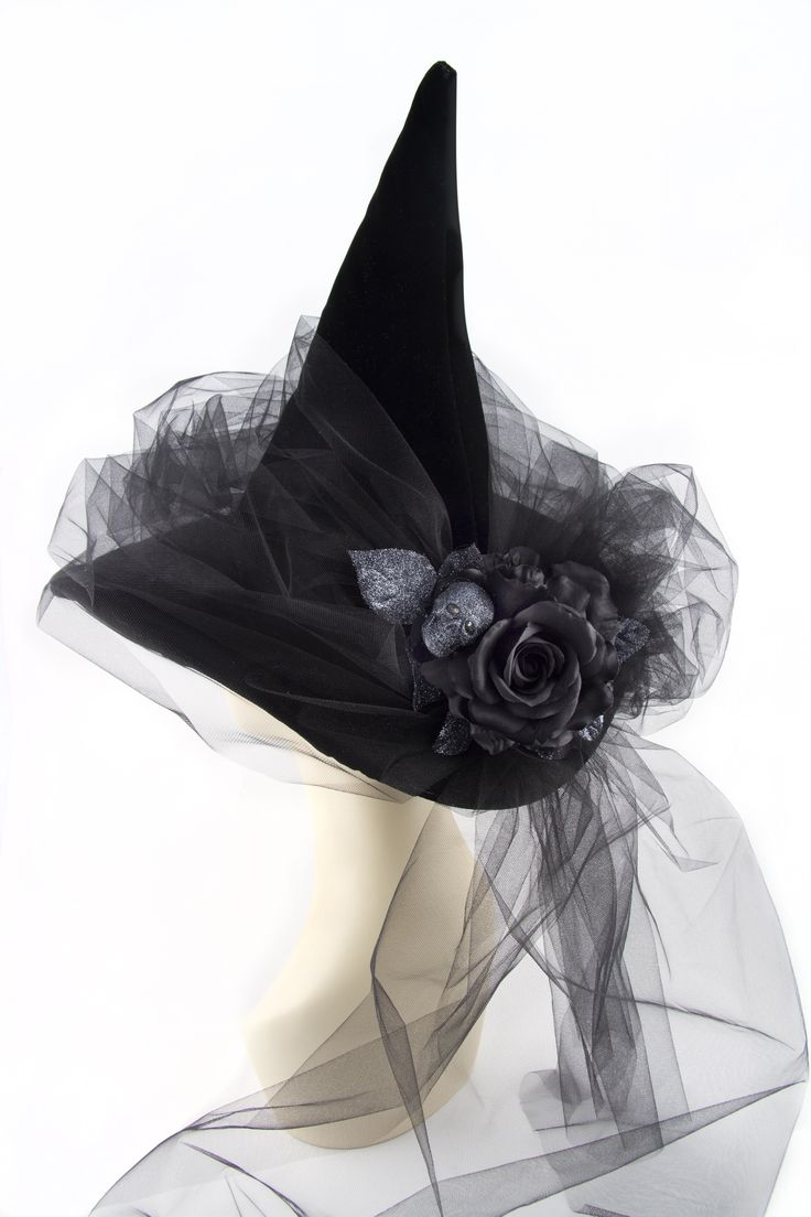 Black Magic Woman witch hat by HoHo Hats