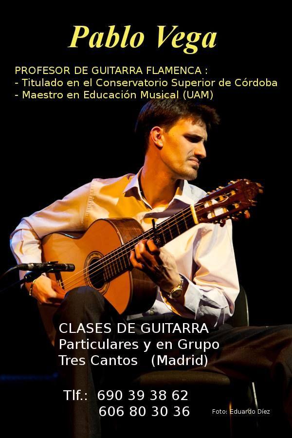 CLASES DE GUITARRA FLAMENCA PABLO VEGA (Madrid)  Fundación Guitarra Flamenca. www.fundacionguitarraflamenca.com
