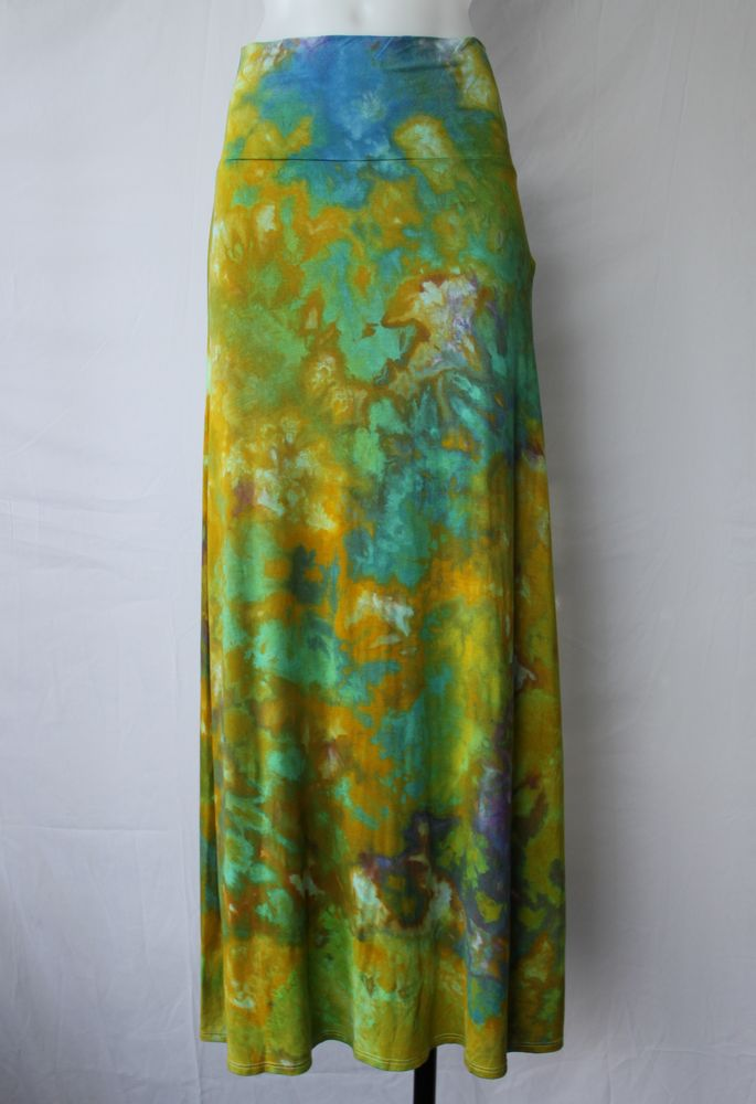 Medium ice dye maxi skirt - South Seas Paradise by A Spoonful of Colors Find this item on https://aspoonfulofcolors.com