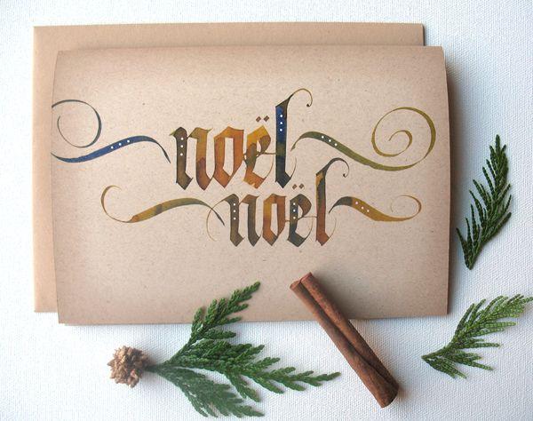 Best calligraphy christmas ideas on pinterest