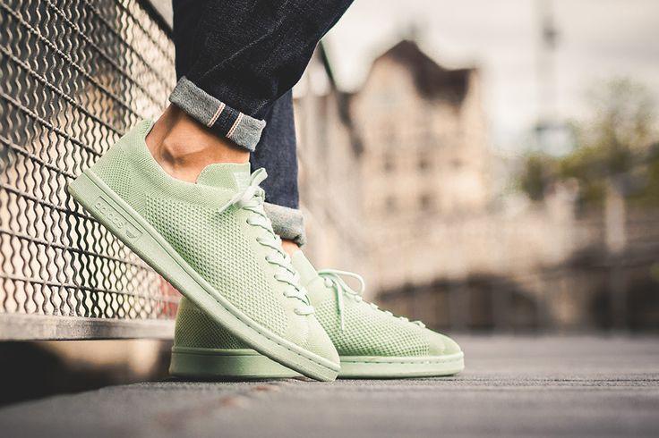 Adidas Stan Smith Primeknit On Feet
