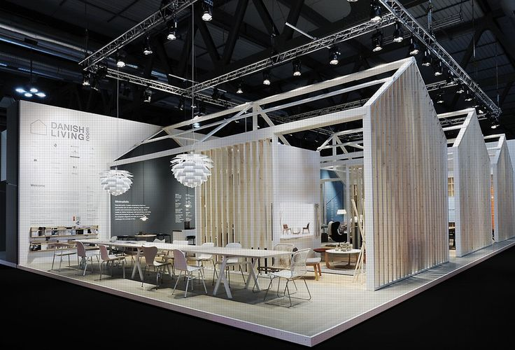 Exhibition Stand Structure : Open frame structure panels danish living room