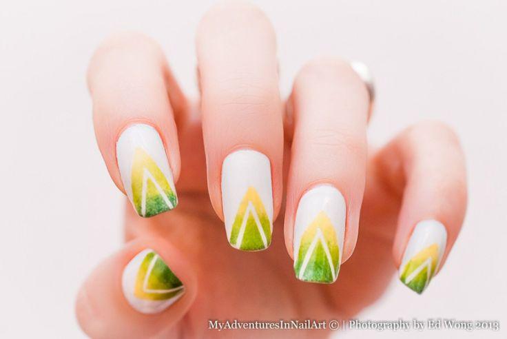 #nailart #nails #manicure #nail #nailsart #green #tape #triangles