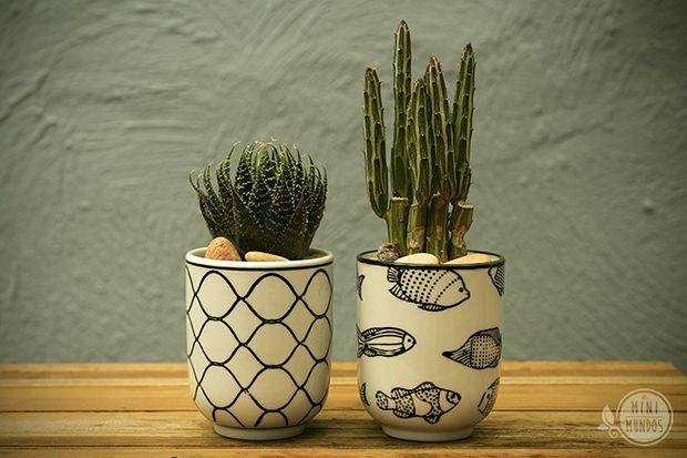 Mini vasos - marca de Babi Viera, Os MiniMundos;