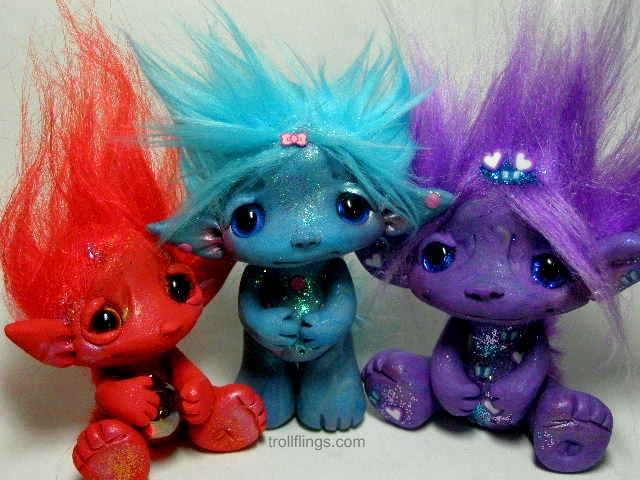 Trollfling Troll trio!  Amber's Cute Trolls