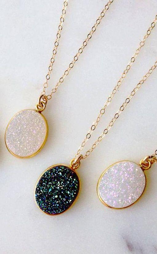 Starry druzy necklace