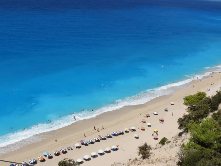 Egremni beach, Lefkada, Greece. A short drive from Kathisma Bay Villas at Kathisma beach, Lefkada