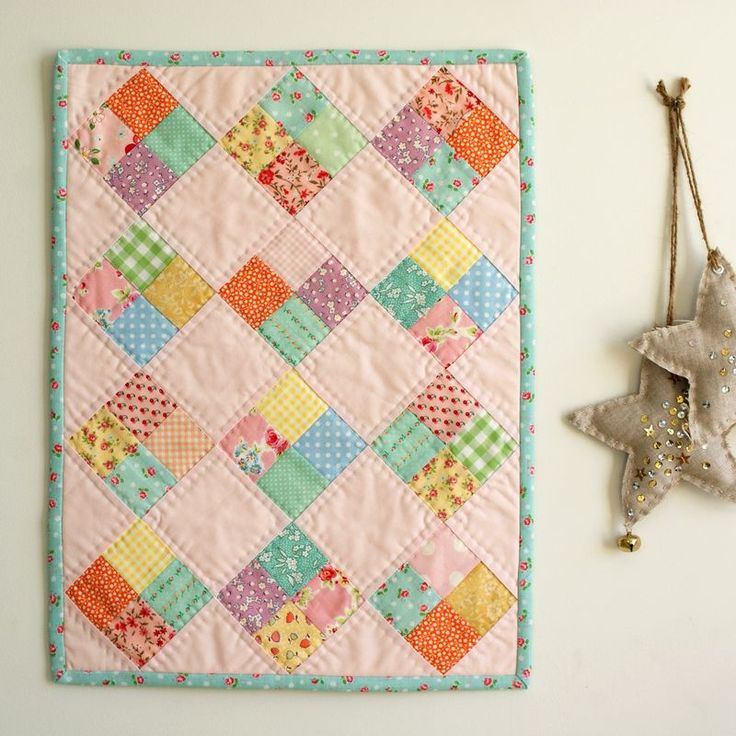 Quilt on Point - I want to use this pattern to make a few baby doll quilts for the big sisters (to go along with my baby quilts for the Mommies).