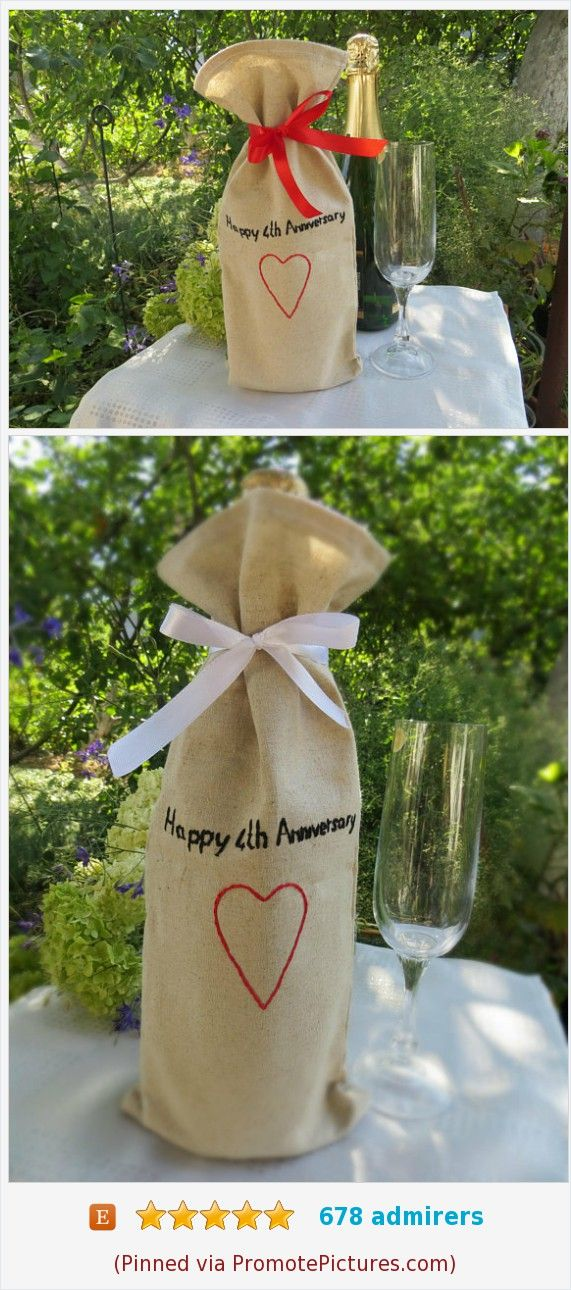 4th anniversary gift for wife Linen anniversary gift for