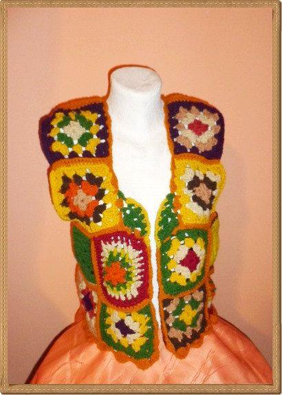 Jacket Crocheted Bolero Shawl Women Christmas Gift by techirshop