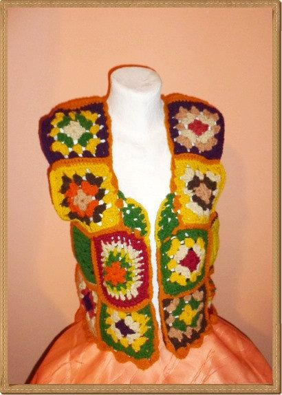 Jacket Crocheted Bolero Shawl Women Christmas Gift by techirshop