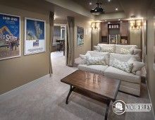 Basement theatre room. 2014 Cash & Cars for Cancer Lottery Home| The Legacy model by Kimberley Homes #interiordesign #newhomedesign #homedesign #newhome #customhome #yegre #buildwithkimberley #kimberleyhomes #theatreroom