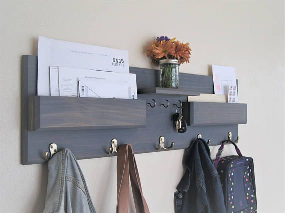 Entryway Organizer Kids Coat Rack With Mail Storage Key Rack Backpack Hooks Command Center Wall Organizer Kids Storage Kids Coat Rack Entryway Organization Wall Organization