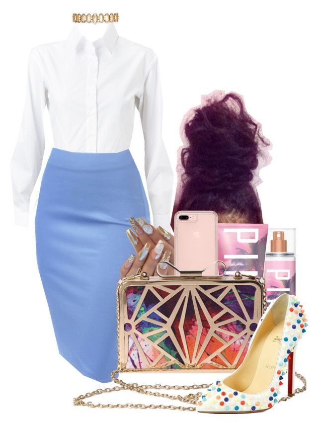 """Boss Lady"" by melaninprincess-16 ❤ liked on Polyvore featuring Alaïa, Erickson Beamon, Victoria's Secret and Christian Louboutin"