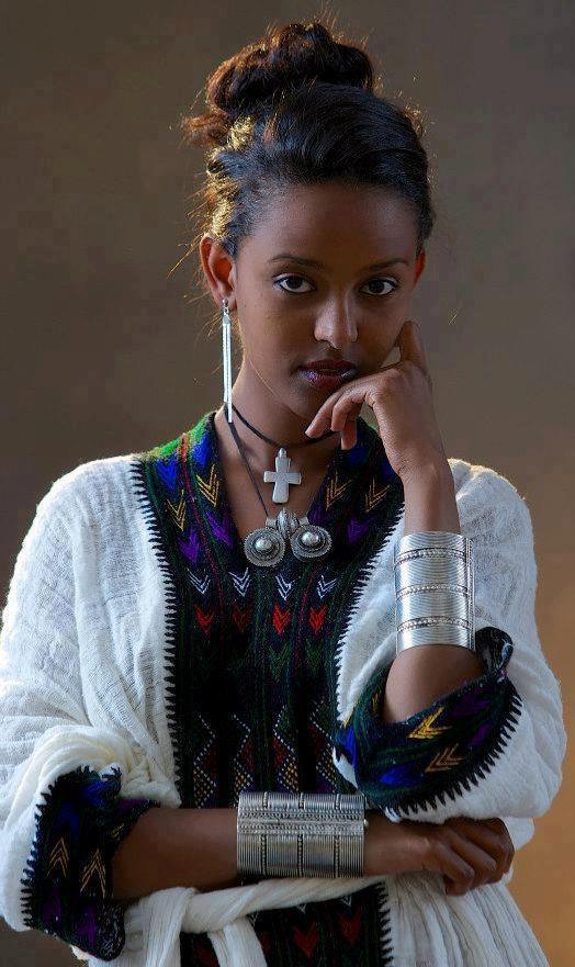 Ethiopian model featured on facebook 'Ethiopian Clothing' at https://www.facebook.com/ www.EthiopianClothing.net