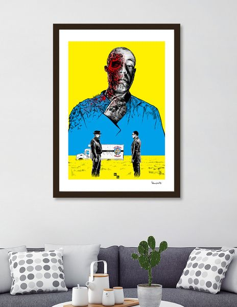 Discover «Breaking bad Gus Fring», Exclusive Edition Fine Art Print by Paola Morpheus - From 23€ - Curioos