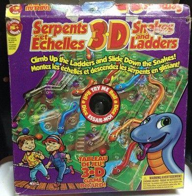 Snakes and Ladders 3D Game Set / Ensemble De Jeu 3D Serpents Et Échelles                          $13.95