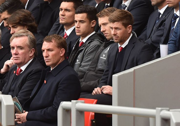 Players and staff at the Hillsborough memorial service