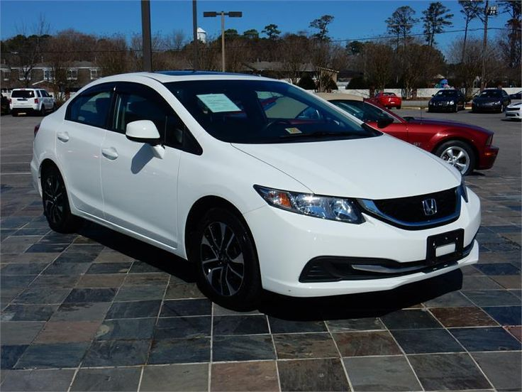 2013 HONDA CIVIC EX  38912 miles, White exterior color with a Tan interior, 1.8L L4 MPI SOHC 16V Engine, Automatic Transmission
