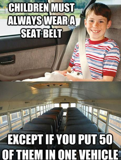 School buses make no sense!!