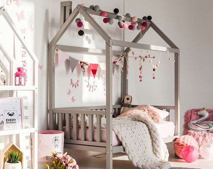 Baby Crib Unique Baby Crib Black Color White Color Baby Crib Etsy Kids Bed Frames Toddler Bedroom Design Kid Beds