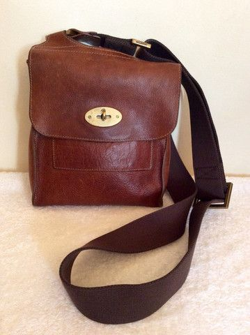 MULBERRY BROWN LEATHER ANTONY CROSS BODY MESSENGER BAG - Whispers Dress Agency - Shoulder Bags - £200