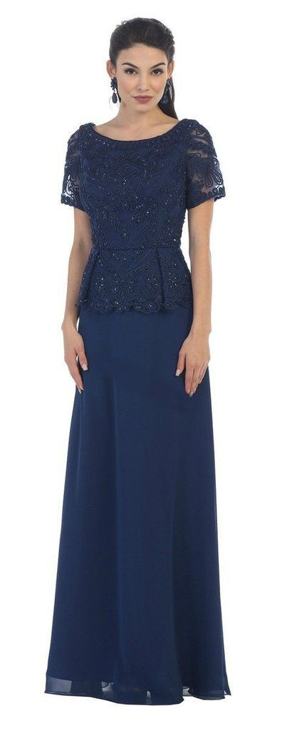 TheDressOutlet Mother of the Bride Dress Formal Plus Size Gown Groom-The Dress Outlet