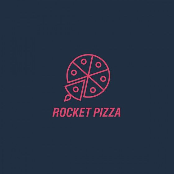 Rocket Pizza //icon design