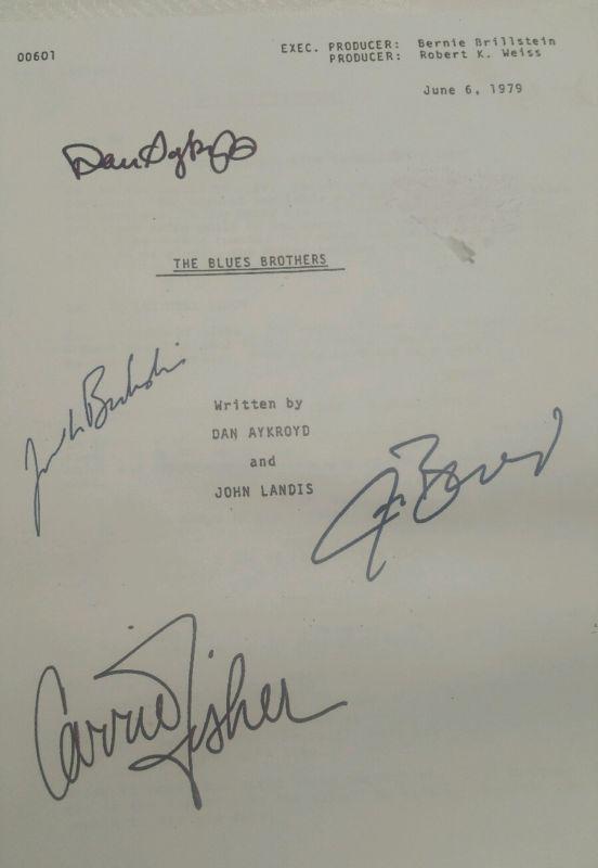 The Blues Brothers Dan Aykroyd, John Belushi, Film Script, Signatures, Photocopy…