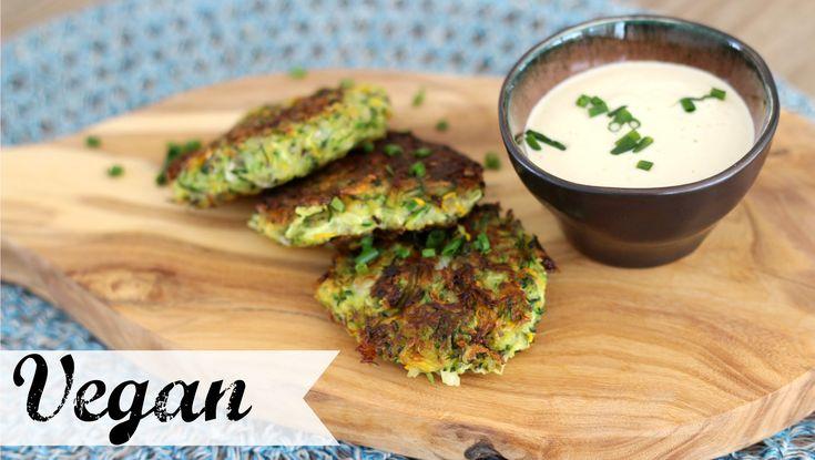 Zucchinipuffer mit Sour Cream VEGAN | yummypilgrim