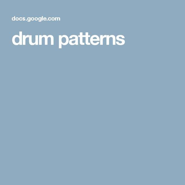 drum patterns