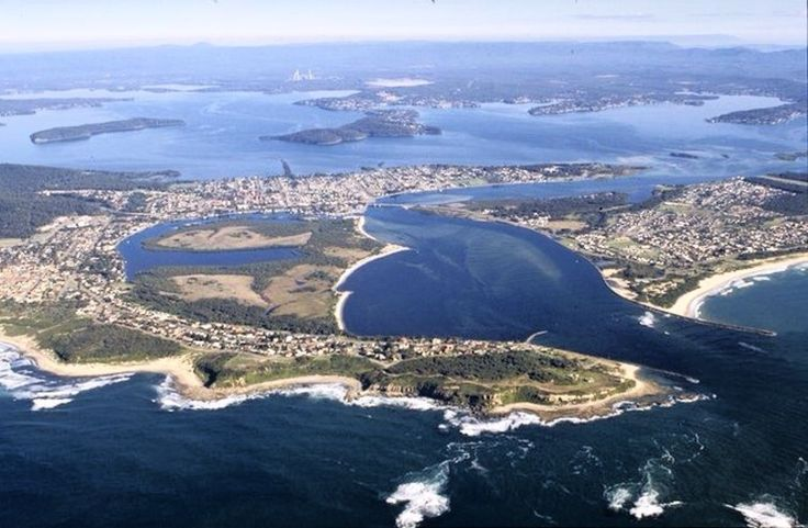 Lake Macquarie & Swansea channel from above! Stunning