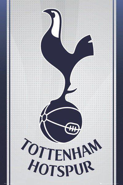 Tottenham Hotspur FC Poster Spurs F.C. Football Club Crest Wall Art Large Maxi