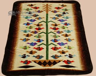"""Southwest Queen Size Blanket 79""""""""x94"""""""" -Tree Of Life (bl10)"""