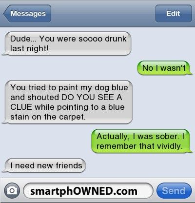 15 Embarrassing Drunk Stories That Probably Aren't True - Autocorrect Fails and Funny Text Messages - SmartphOWNED