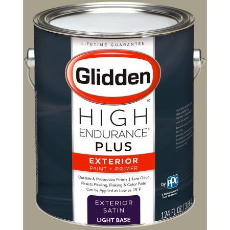 Glidden High Endurance Plus Exterior Paint and Primer, Potters Clay Beige, #40YY 38/107, Brown