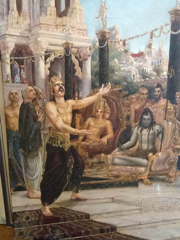 Shiva Tolerates Daksha S Rebukes Artist Giampaolo Tomassetti