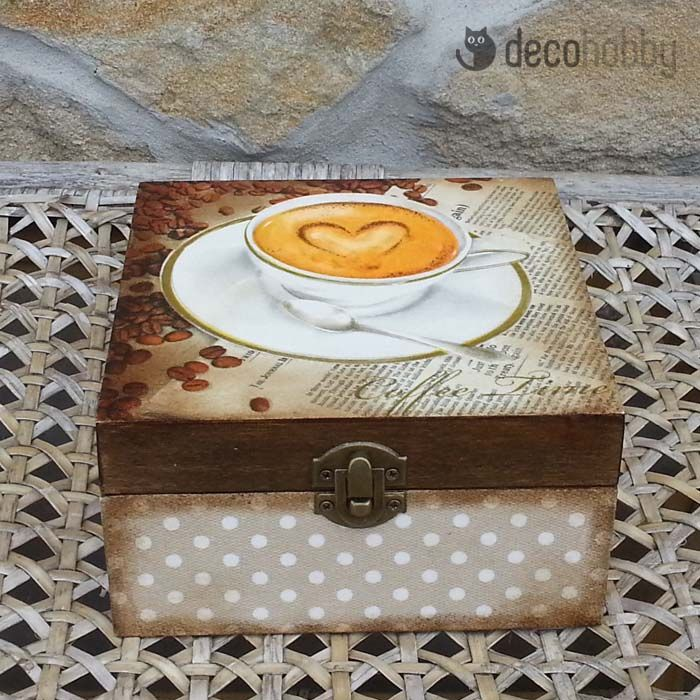 Kávéscsésze 4 rekeszes teásdoboz | DecoHobby
