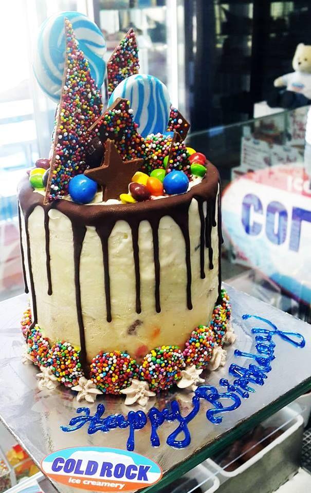 cold rock lollypop ice cream cake