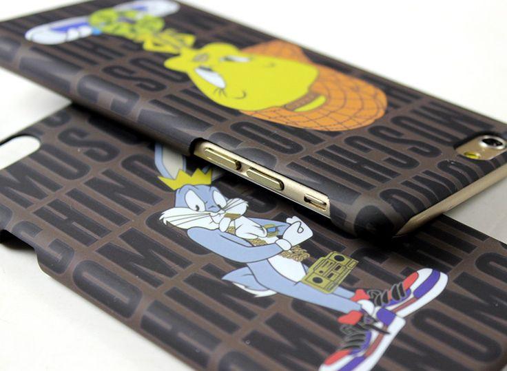 Moschino iphone7ケースシンプルアイフォン保護カバー ハードケースキャラクターBugs Bunnyバッグス・バニー送料無料
