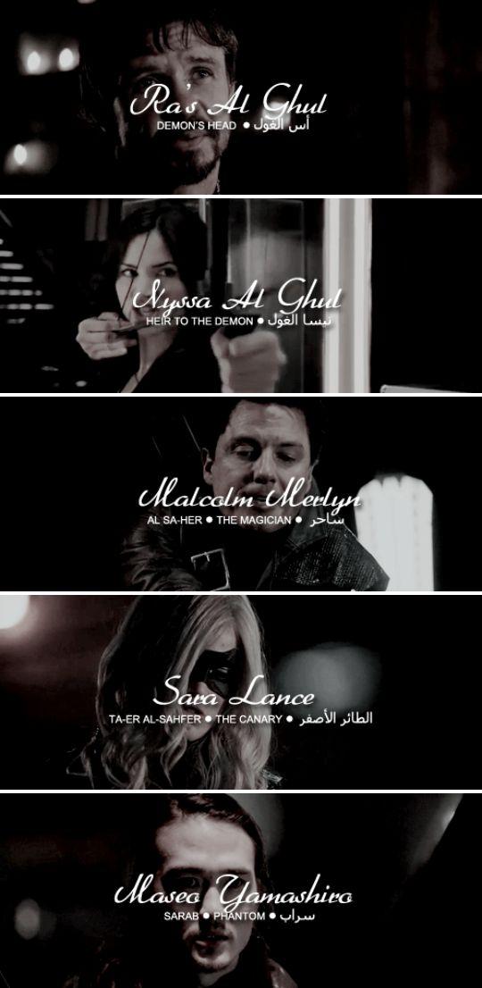 League Of Assassins #arrow Holla